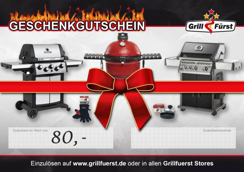 Grillfürst Geschenk Gutschein 80€