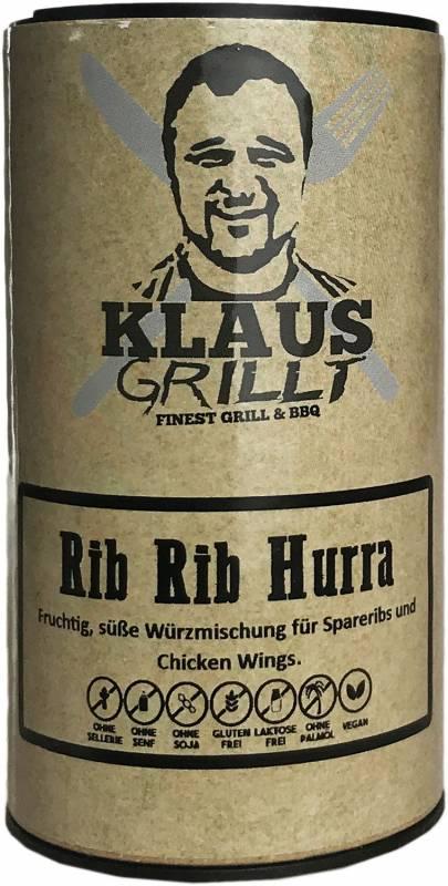 Rib Rib Hurra Rub 120 g Streuer by Klaus grillt