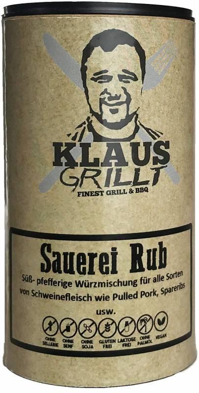 Sauerei Gewürzmischung 120 g Streuer by Klaus grillt