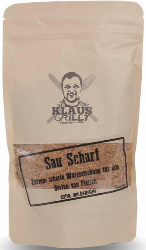 Sau Scharf Gewürzmischung 200 g Beutel by Klaus grillt