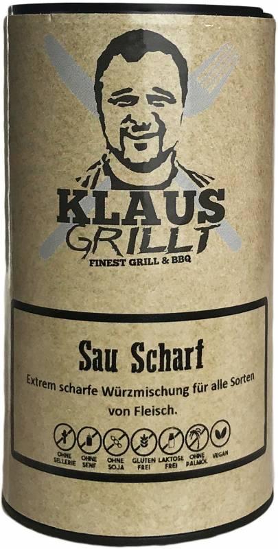 Sau Scharf Gewürzmischung 120g Streuer by Klaus grillt