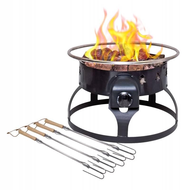 Camp Chef - Lavastein Gas-Feuerstelle Redwood