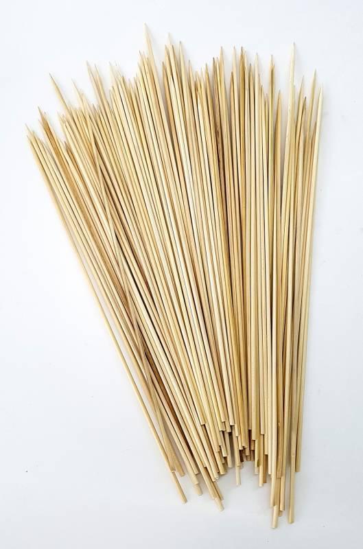Holzspieße 30cm aus Bambusholz, 100 Stück