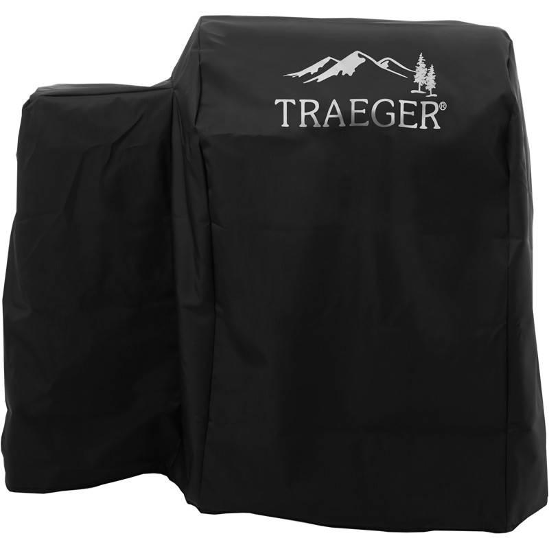 Traeger Allwetter-Abdeckhaube für Bronson 20, lang, schwarz mit Logo - Auslaufartikel