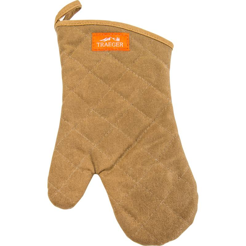 Traeger BBQ Handschuh aus Leinen/Leder, braun - Auslaufartikel