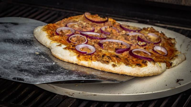 Grillfürst Pizzablech Edelstahl 31 cm