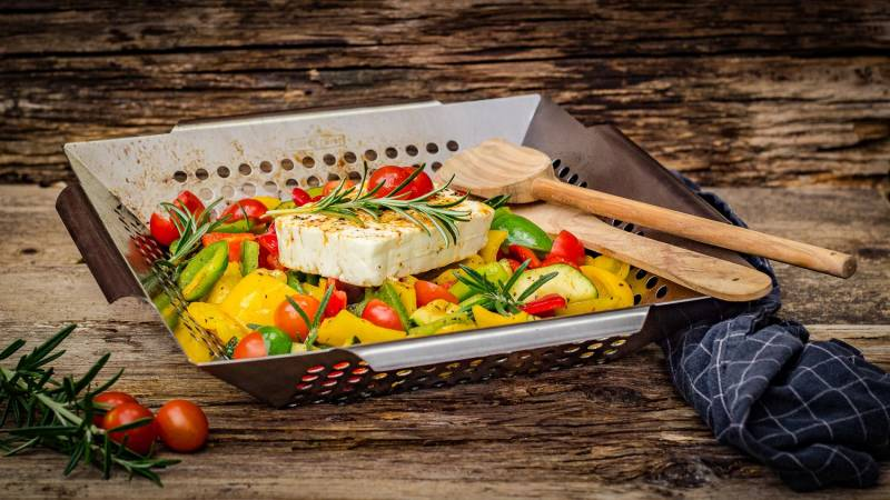 Gemüsekorb Edelstahl Premium 34,5 x 34,5cm