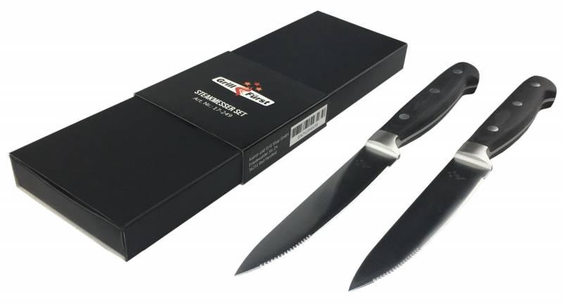 Grillfürst Steakmesser mit Wellenschliff 2er Set