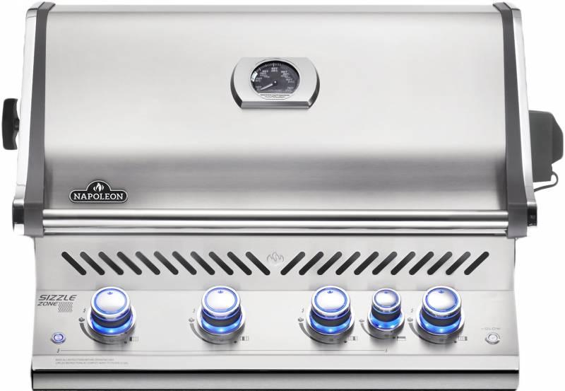Napoleon Prestige Pro 500-2, Edelstahl, Einbau, inkl. Drehspieß - Modell 2019