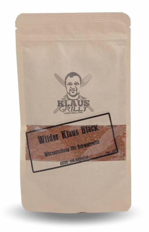 Wilder Klaus Black Gewürzmischung 150 g Beutel by Klaus grillt