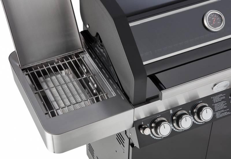 Rösle Gasgrill Videro G4-S Modell 2018 schwarz inkl. Abdeckhaube