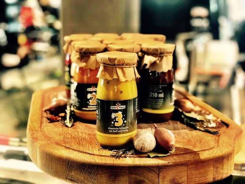 Grillfürst BBQ Sauce No. #3, die klassische Sauce mit Senf und Honig