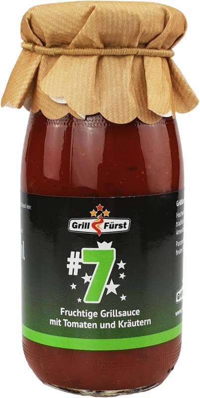 Grillfürst BBQ Sauce No. #7, die fruchtige Sauce mit Tomaten und Kräutern
