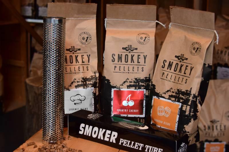 Smokey Bandit Starterpaket Smoker 3 x 1 kg Grillpellets