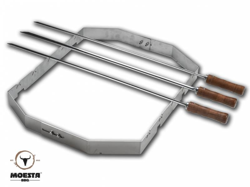 Moesta Churrasco'BBQ - Set für Smokin'Pizzaring: 57 cm