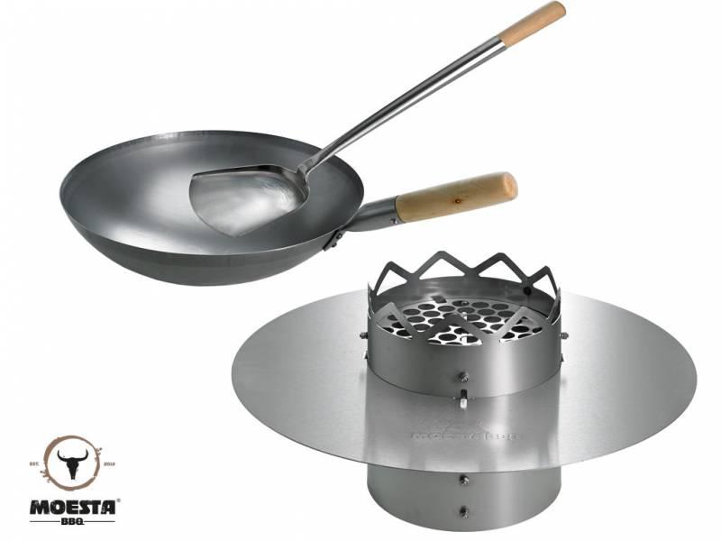 Moesta WOK'N BBQ Komplettpaket - für Kugelgrill (47cm)