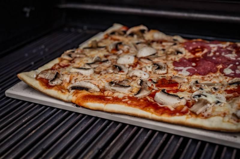 Grillfürst Pizzastein rechteckig 40 x 30 cm