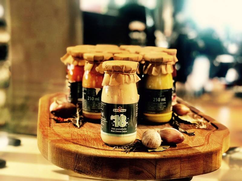 Grillfürst BBQ Sauce No. #18, die fein aromatische Blue Cheese Sauce