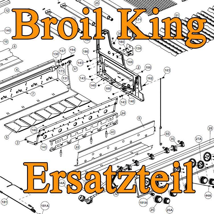 Broil King Ersatzteil: Stabbrenner Crown - 1 Stück