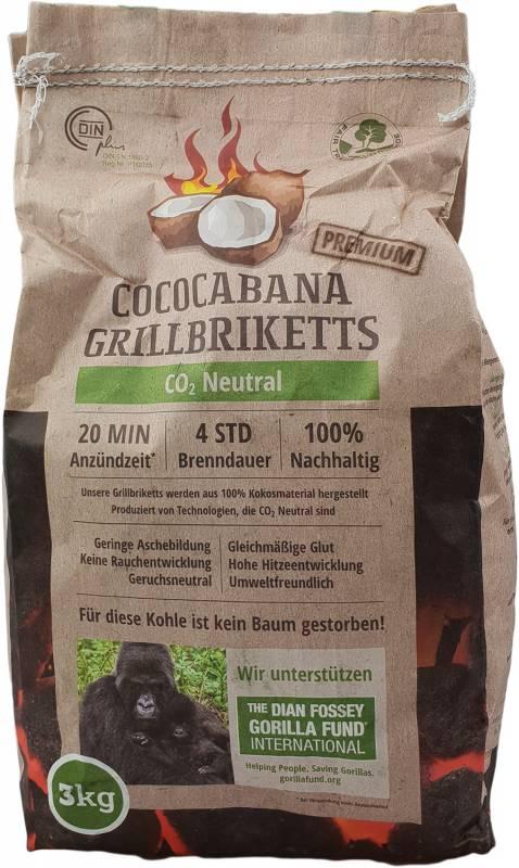 Cococabana Kokos Grillbriketts, 3kg