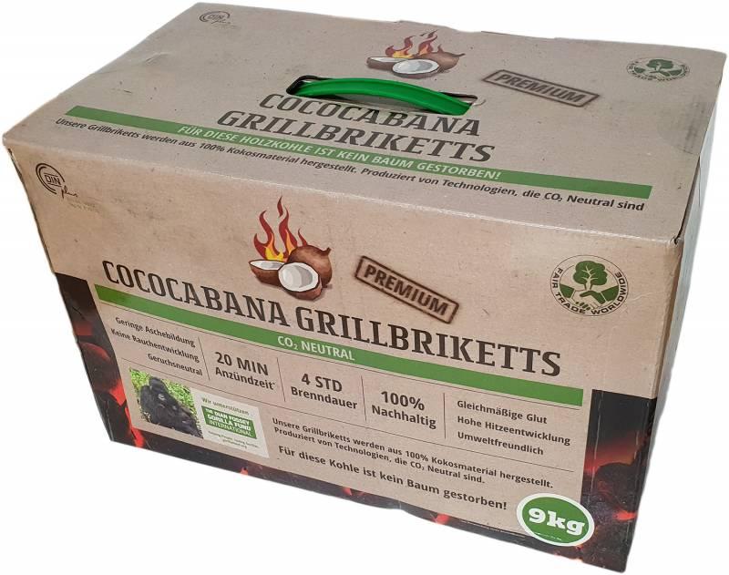 cococabana kokos grillbriketts 9kg im karton kaufen. Black Bedroom Furniture Sets. Home Design Ideas