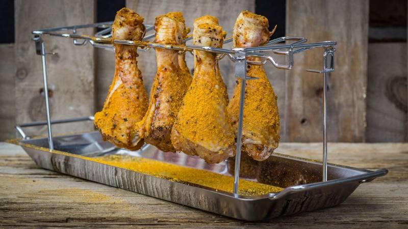 Grillfürst Chicken Wing Holder / Hähnchenschenkel Halter v2