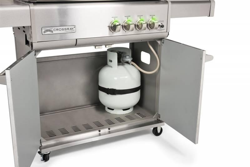 Heatstrip Crossray 4-Brenner Gasgrill mit Unterschrank (TCS4EU50 + TCS4-TROLLY)