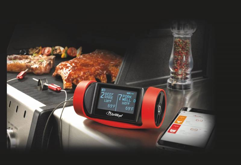 GrillEye Pro Plus Smart Bluetooth Grill- und Smoker Thermometer mit Cloud Funktion