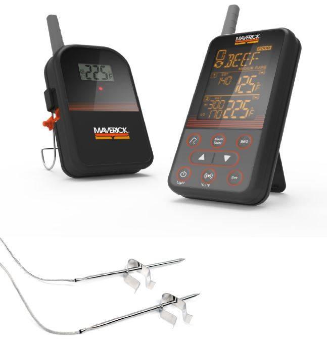 Maverick XR-40 - Das 160 Meter Drahtlos BBQ Grillthermometer mit 2 Temperaturfühlern