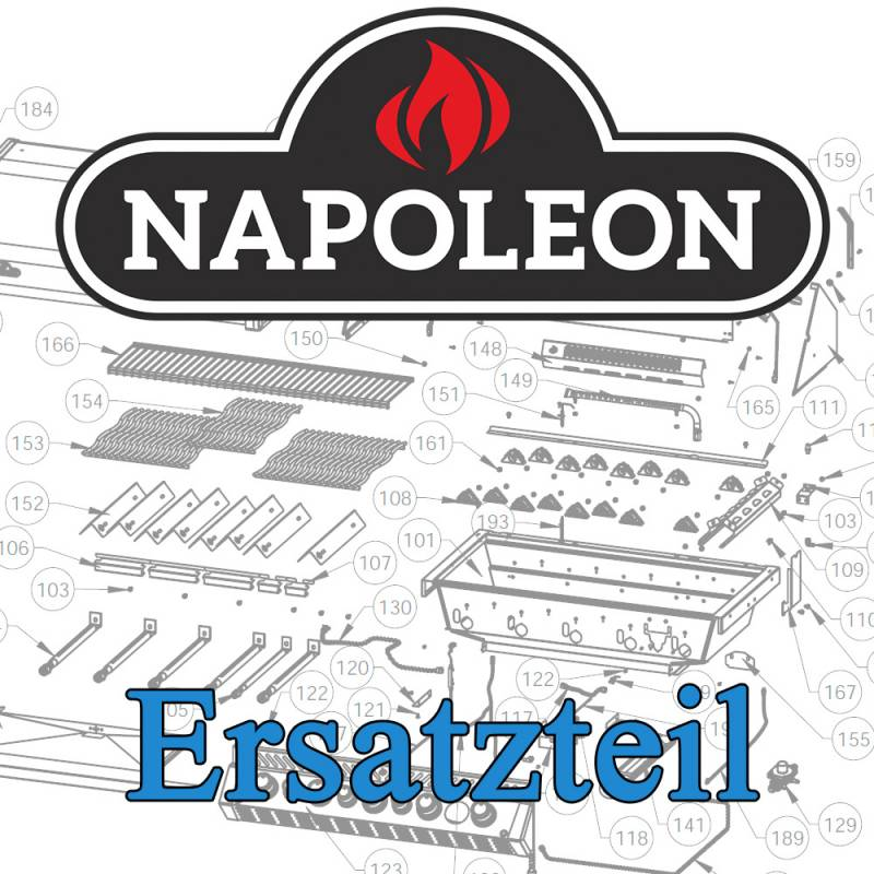 Napoleon Ersatzteil: LED Farbwechsel-Rosette groß PRO500-2 / PRO665-2 / PRO825-2 mit zweifarbiger Regler-Beleuchtung