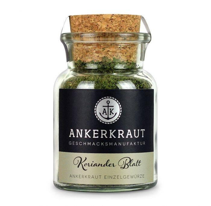 Ankerkraut Korianderblatt, gerebelt, 25 g Glas