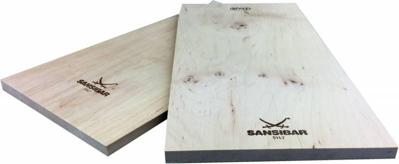 Rösle Sansibar Räucherbrett / Aroma Planke Erle 2er Set 30 x 15 cm