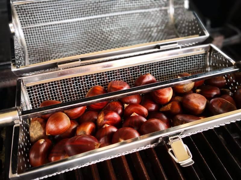 Grillfürst Universal Drehspießkorb / Rotisseriekorb, Edelstahl