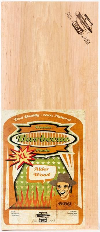 Axtschlag Räucherbretter (Wood Planks) 2er Pack Alder - Erle XL 40 x 15 cm
