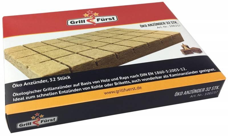 Grillfürst Öko Grillanzünder Karton, 24 x 32 Stk.