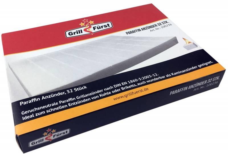 Grillfürst Paraffin Grillanzünder Karton, 24 x 32 Stk.