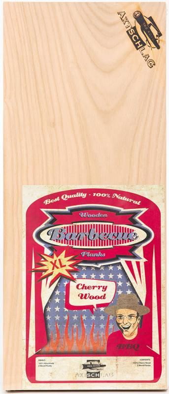 Axtschlag Räucherbretter (Wood Planks) 2er Pack Cherry - Kirsche XL  40 x 15 cm