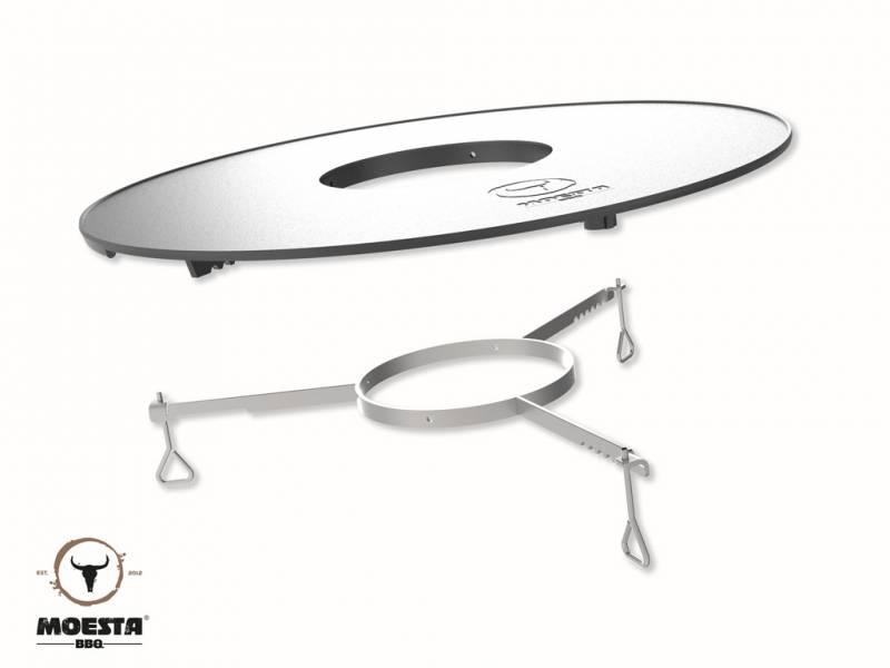 Moesta Plancha Set: BBQ-Disk Feuerplatte Set inkl. Höhenversteller
