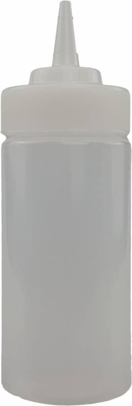 Don Marco`s Squeezer Flasche, 237ml, klar, mit breiter Einfüllöffnung