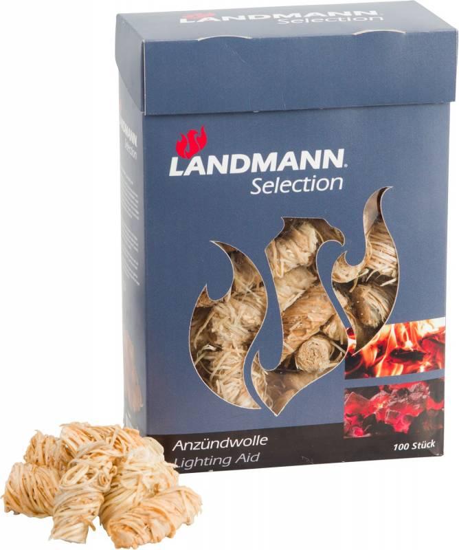 Landmann Anzündwolle für Grill und Kamin - 100 Stk. im Karton