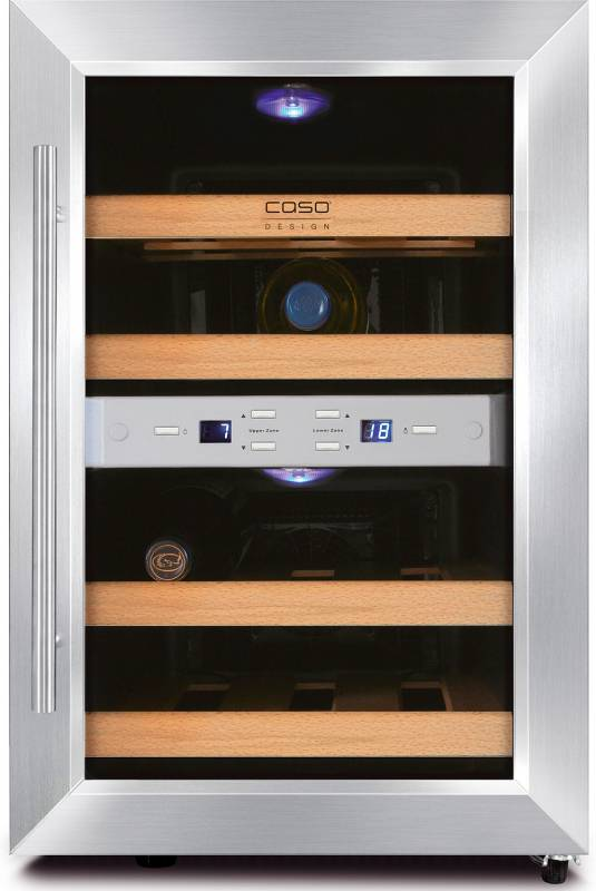 CASO WineDuett 12 - Weinschrank mit Peltier-Kühlung
