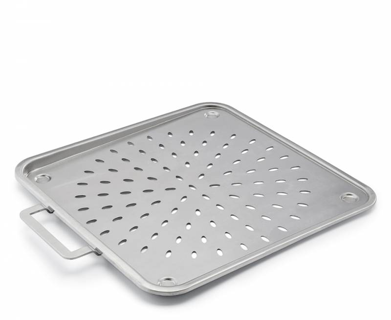 Koenig Pizzablech / Backblech aus Edelstahl, 33,5 x 33,5 cm