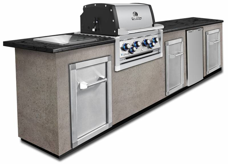 Broil King Imperial 490 PRO Built In inkl. Drehspieß + Motor - Modell 2019