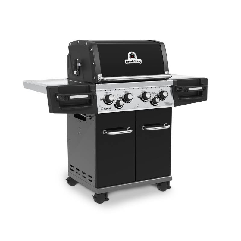 Broil King Regal 490 Black inkl. Drehspieß + Motor - Modell 2019