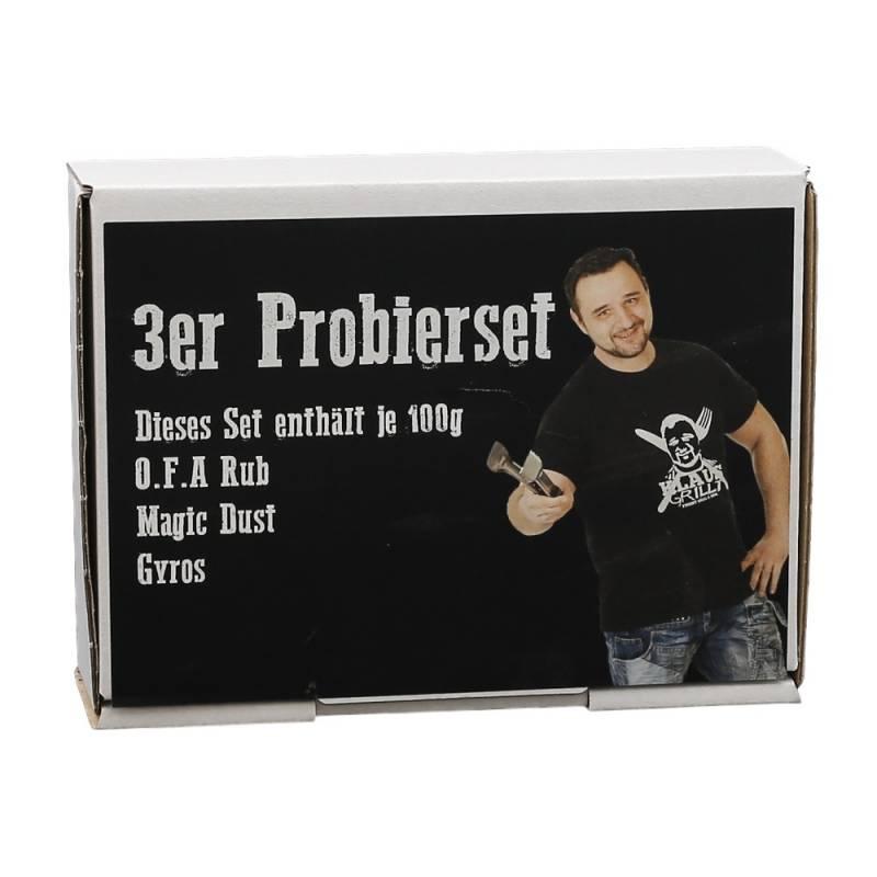 Probierset OFA/Magic Dust/Gyros 3 x 100 g Beutel by Klaus grillt