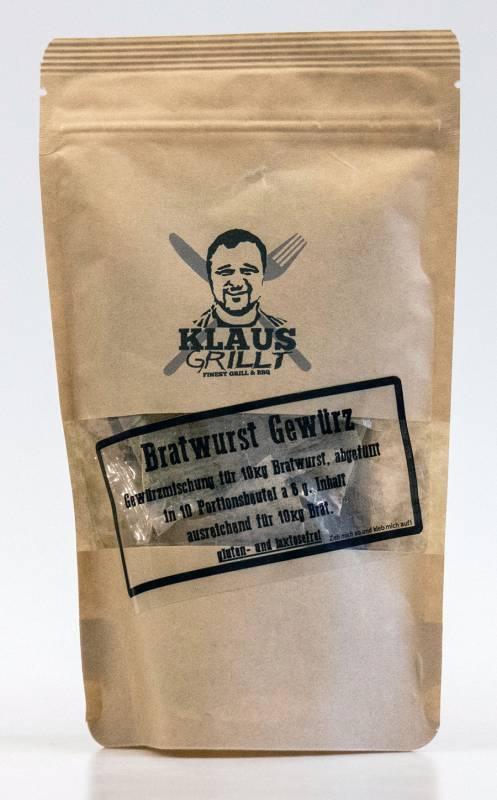Bratwurst Gewürzmischung 10er Set 60 g Beutel by Klaus grillt