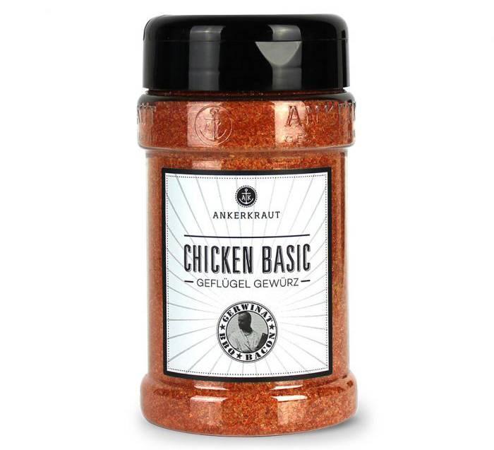 Ankerkraut Chicken Basic, BBQ Rub, 340g Streuer