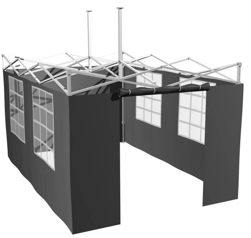 Grillfürst Seitenwände für 4,5 x 3m Grillpavillon / Gartenpavillon / Grillzelt 4er Set