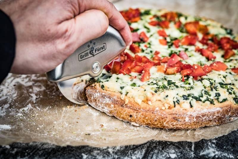 Grillfürst Pizzarad / Pizzaschneider / Pizzaroller Edelstahl 10cm