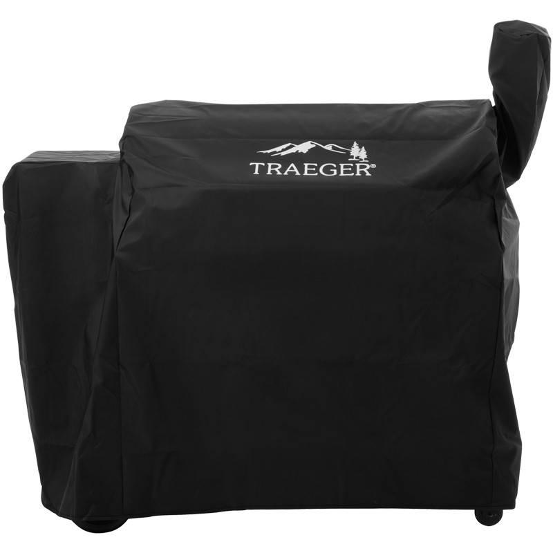 Traeger Pelletgrill Pro Series 34 - Modell 2018 - Auslaufartikel - XXL Set mit Gusseisen Grillrosten, Frontablage, Bodenplatte und Abdeckhaube